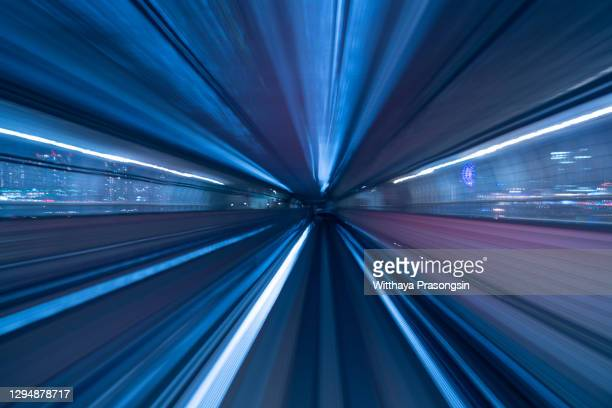 tokyo japan high speed train tunnel motion blur abstract - big tech stock pictures, royalty-free photos & images