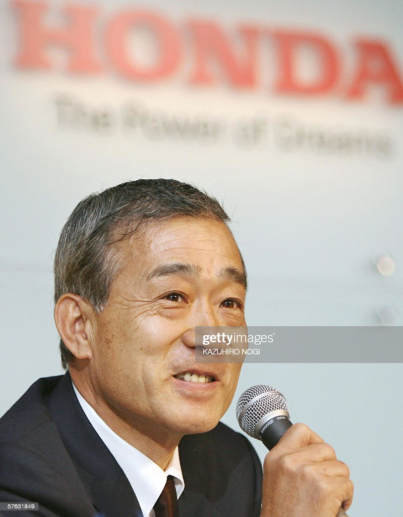 Honda unveils big expansion with new us japan plants photos and japans honda motor co ltd president takeo fukui delivers his 2006 mid year sciox Image collections