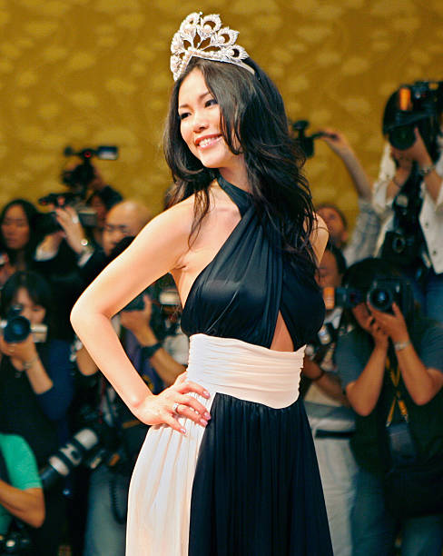 Miss Universe Riyo Mori of Japan poses f... Pictures | Getty Images