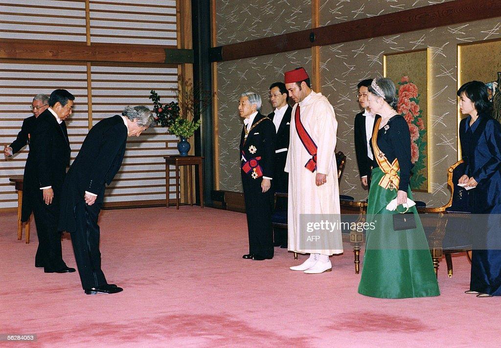 Morocco's King Mohammed VI (4R), Japan's : News Photo