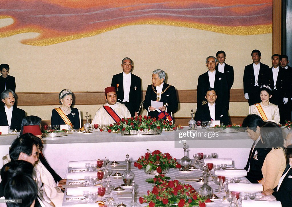 Morocco's King Mohammed VI (middle - 2L) : News Photo