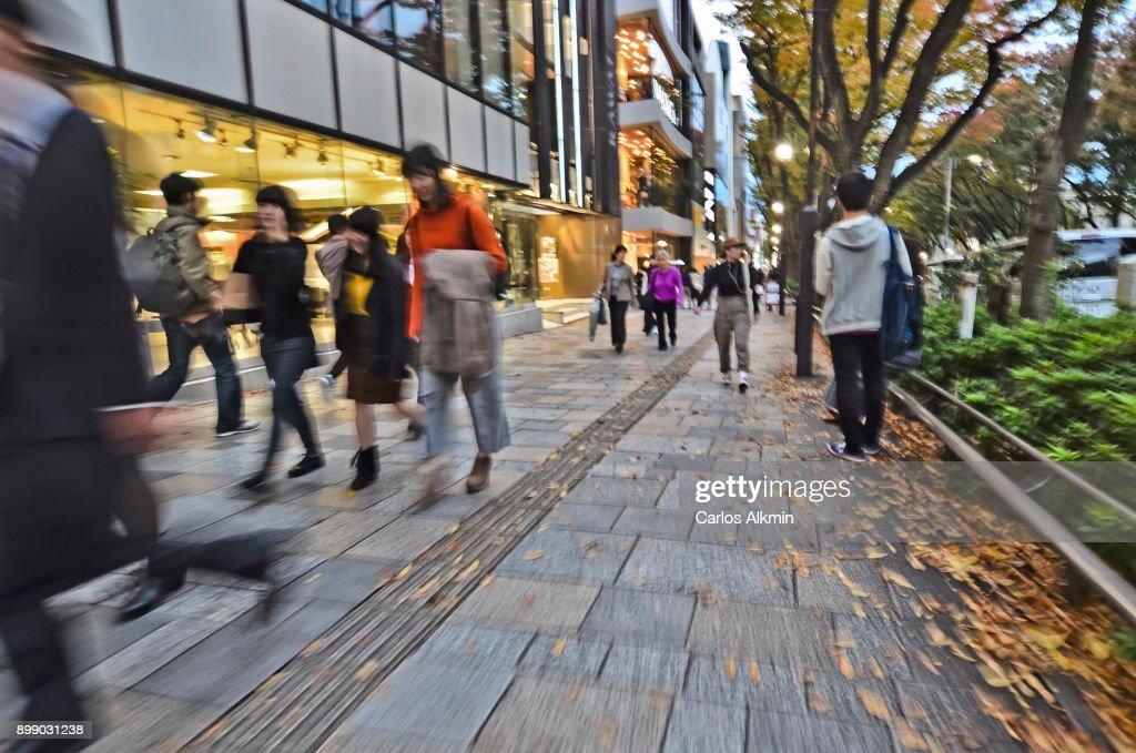 Tokyo - Japan - Omotesando - people on the sidewalk : ストックフォト