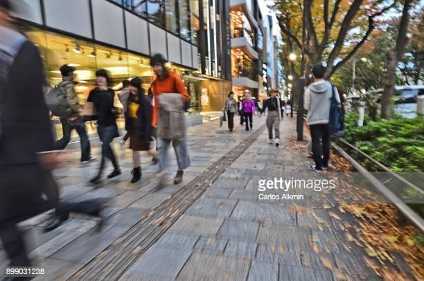 Tokyo - Japan - Omotesando - people on the sidewalk