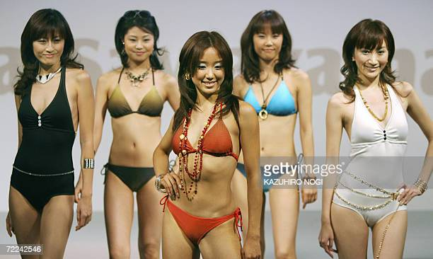 Rina Sawayama new campaign girl for Japanese apparel giant Toray and other models display bikini swimsuit using new materials during Toray's 2007...