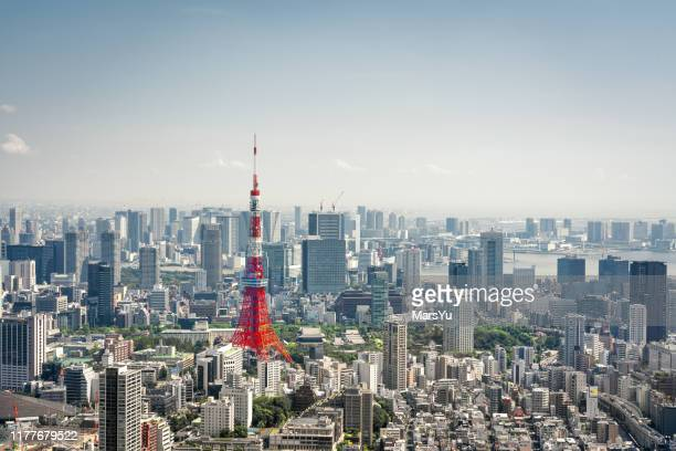 tokyo, japan skyline - この撮影のクリップをもっと見る 2025 stock pictures, royalty-free photos & images