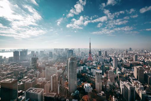 Tokyo, Japan Skyline 955203704
