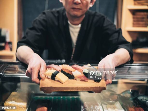 tokyo japan sushi chef - maki sushi stock pictures, royalty-free photos & images