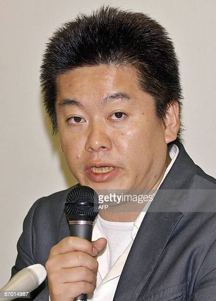 This file photo dated 17 January 2006 shows Takafumi Horie former president of Japanese Internet company Livedoor Reports said that Takafumi Horie...