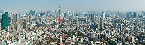 Tokyo Landmark Cityscape Panorama Crowded Streets Downtown Skyscraper Metropolis Japan Wall Art