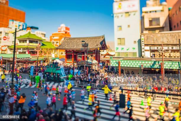 tokyo marathon diorama - saha entertainment stock pictures, royalty-free photos & images