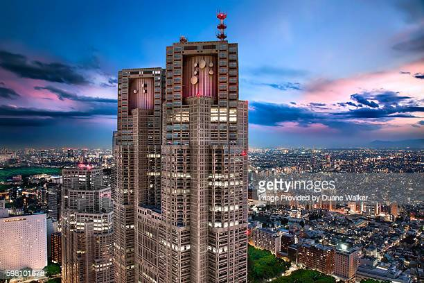 Tokyo Metropolitan Government Building in Twilight Hour