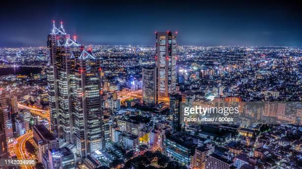tokyo metropolitan government building - high dynamic range imaging stock pictures, royalty-free photos & images