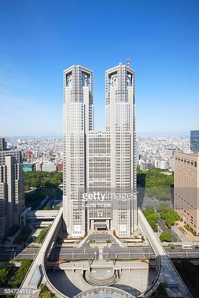 tokyo metropolitan government office, shinjuku - 東京都庁舎 ストックフォトと画像
