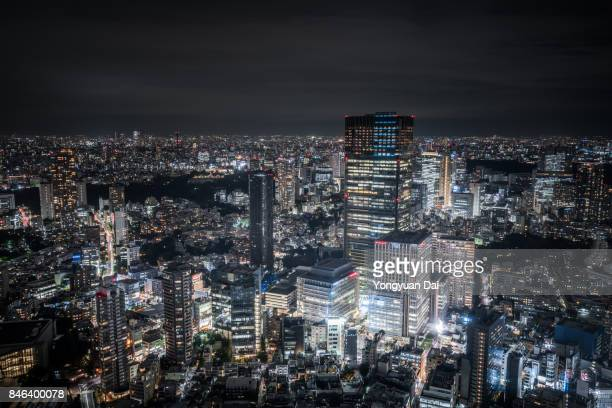 tokyo midtown at night - tokyo midtown stock pictures, royalty-free photos & images
