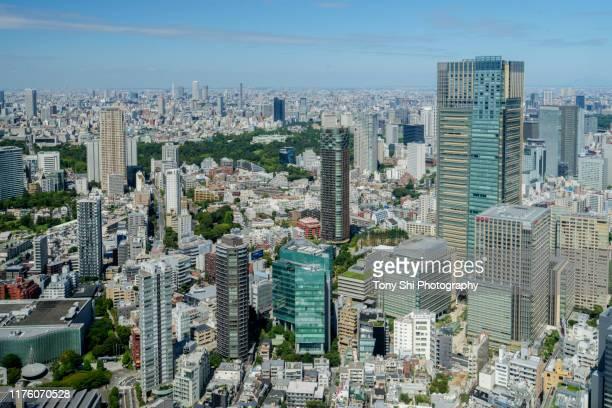 tokyo midtown skyline - tokyo, japan - tokyo midtown stock pictures, royalty-free photos & images