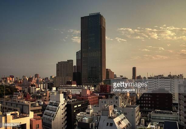 tokyo midtown sunset - tokyo midtown stock pictures, royalty-free photos & images