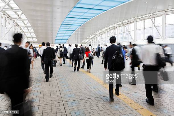 Tokyo Morning Rush Hour at the Station
