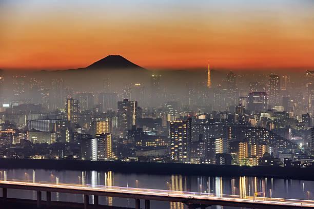 Tokyo Mt Fuji Fog Wall Art