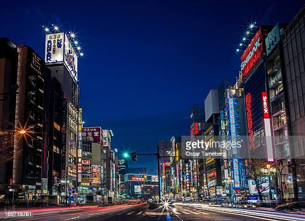 Tokyo night in high speed