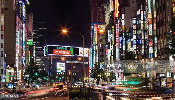 Tokyo Night Traffic in Shibuya