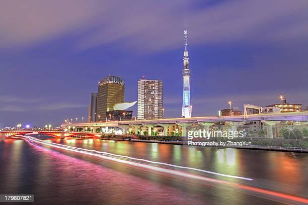 Tokyo night view at Asakusa