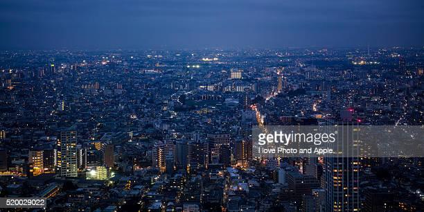 Tokyo night view from Shinjuku