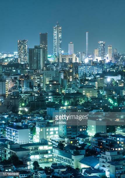 Tokyo night, view on Bunkyo-ku and Ikebukuro