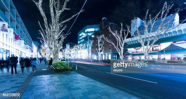 夜東京表参道商店街