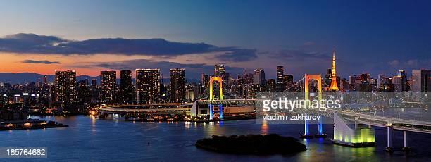 Tokyo panorama at sunset