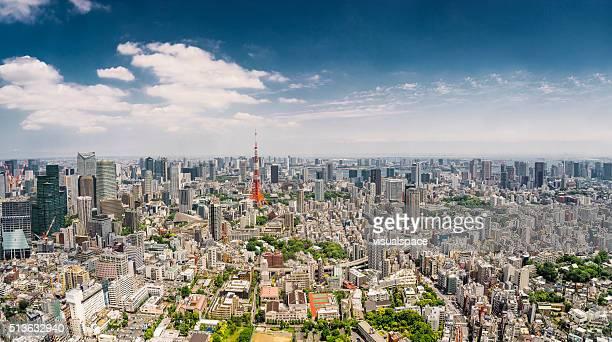 tokyo panorama, japan. - tokyo midtown stock pictures, royalty-free photos & images