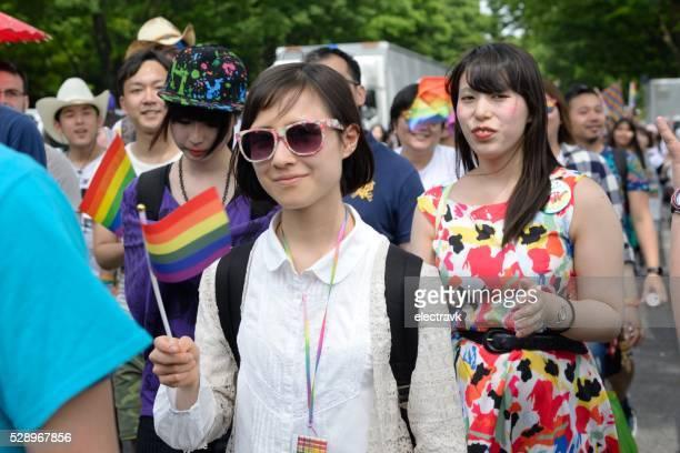 tokyo rainbow pride - yoyogi tokyo stock photos and pictures