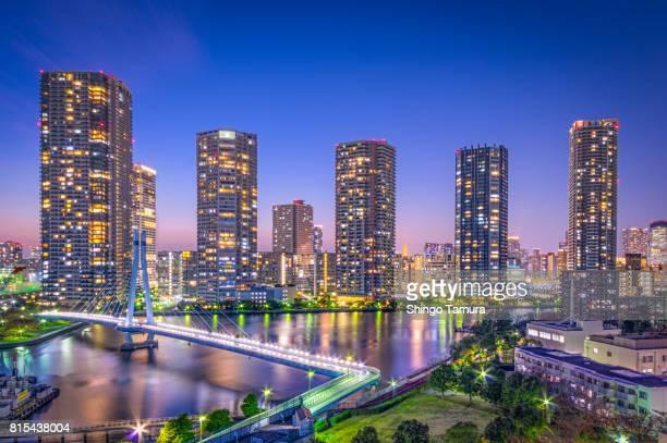 Tokyo Residencial Area in Twilight