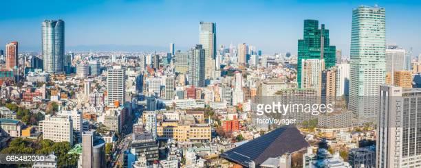 渋谷六本木ヒルズ高層ビル混雑都市景観パノラマ日本