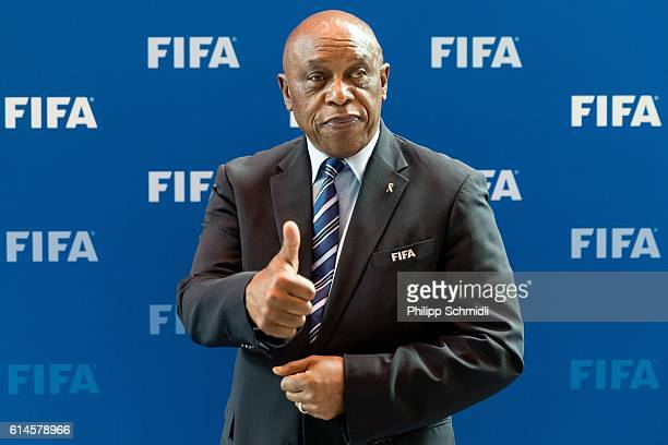 Tokyo Sexwale poses for a photo after part II of the FIFA Council Meeting 2016 at the FIFA headquarters on October 14 2016 in Zurich Switzerland