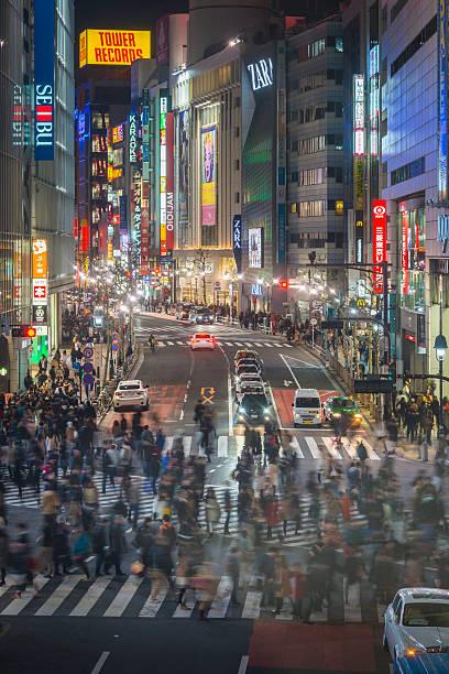 Tokyo Shibuya Crossing Crowds Of People On Iconic Street Japan Wall Art