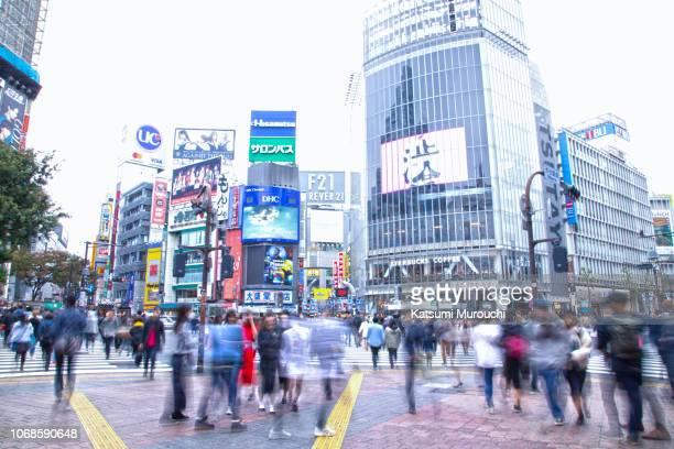 tokyo shibuya scramble crossing - 渋谷 ストックフォトと画像