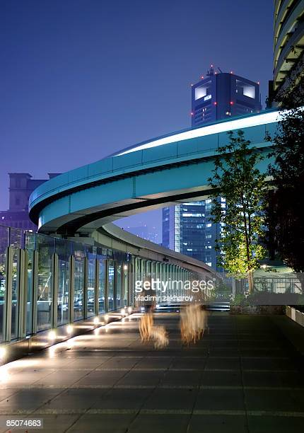tokyo shimbashi - monorail stock pictures, royalty-free photos & images