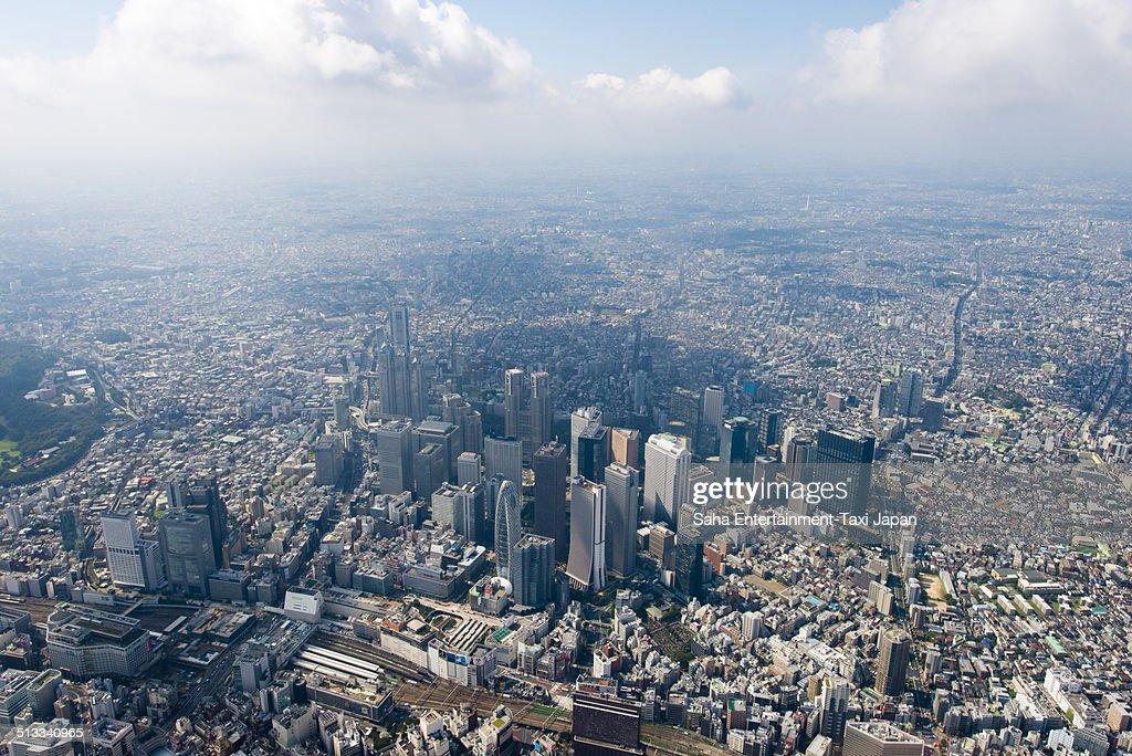 Tokyo Shinjuku Aerial shot : ストックフォト