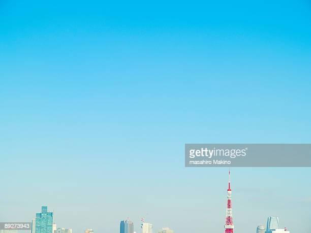 tokyo sky - 青 ストックフォトと画像