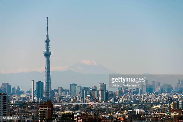 Tokyo Sky Tree and M't Fuji