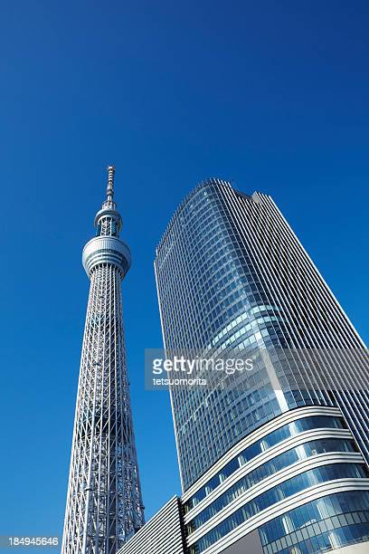 Tokyo Sky tree and office building