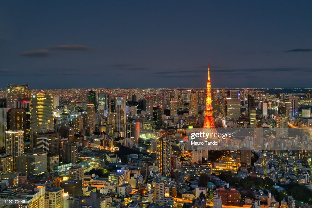 Tokyo skyline at night : Foto stock