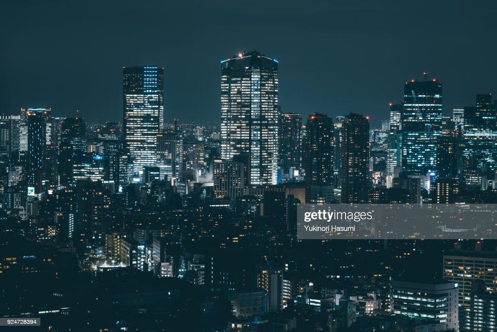 Tokyo skyline at Night : Stock-Foto