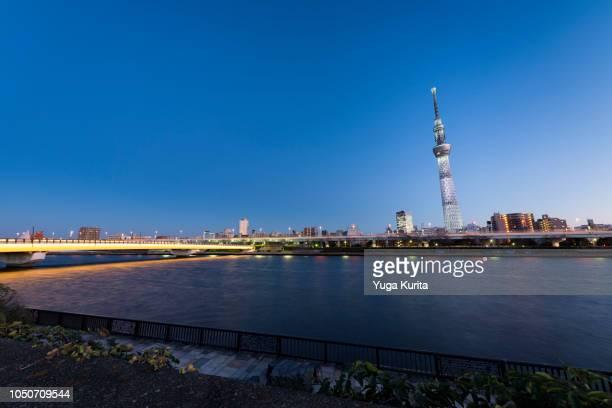 Tokyo Skyline over the Sumida River