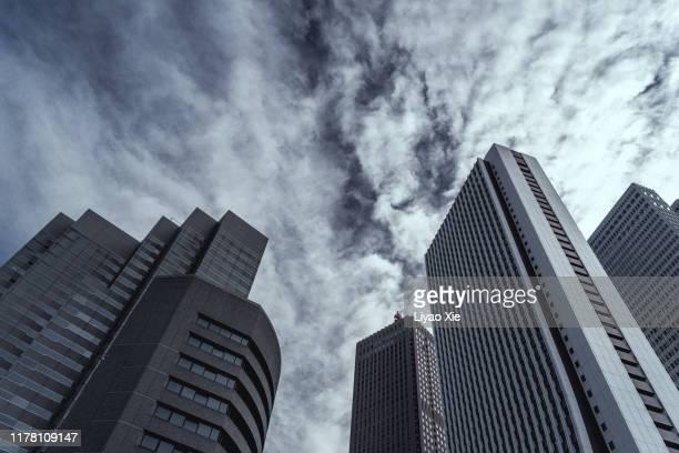 tokyo skyline - liyao xie bildbanksfoton och bilder