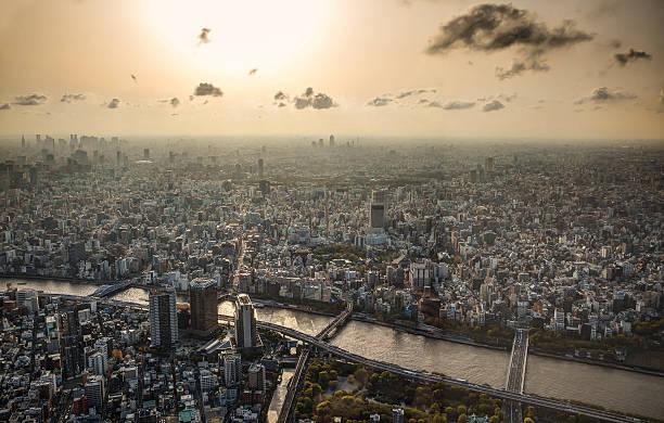 Tokyo skyline sunset