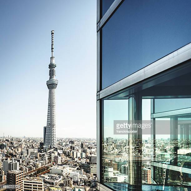 Tokyo skyline with the Sky Tree in the background