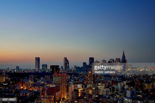 Tokyo Skyscrapers at twilight