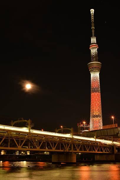 Tokyo Skytree and moon