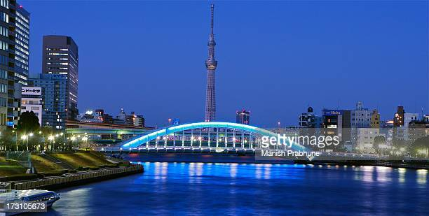 tokyo skytree & eitaibashi - 永代橋 ストックフォトと画像